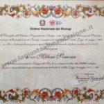 Immagine del Certificato di Iscrizione all'Ordine Nazionale dei Biologi della dottoressa Simona Meloni, Biologa Nutrizionista a Reggio Emilia