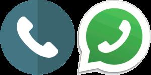 Immagine del telefono e di whatsapp che indica come contattare la dottoressa Simona Meloni, Biologa Nutrizionista a Reggio Emilia