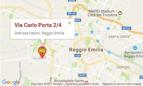 Lo studio della dottoressa Simona Meloni, Biologa Nutrizionista, si trova a Reggio Emilia in via Carlo Porta 2/4. Si riceve solo su appuntamento.