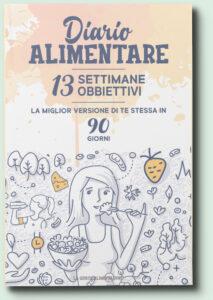 Copertina del diario alimentare scritto dalla dottoressa Simona Meloni Biologa Nutrizionista