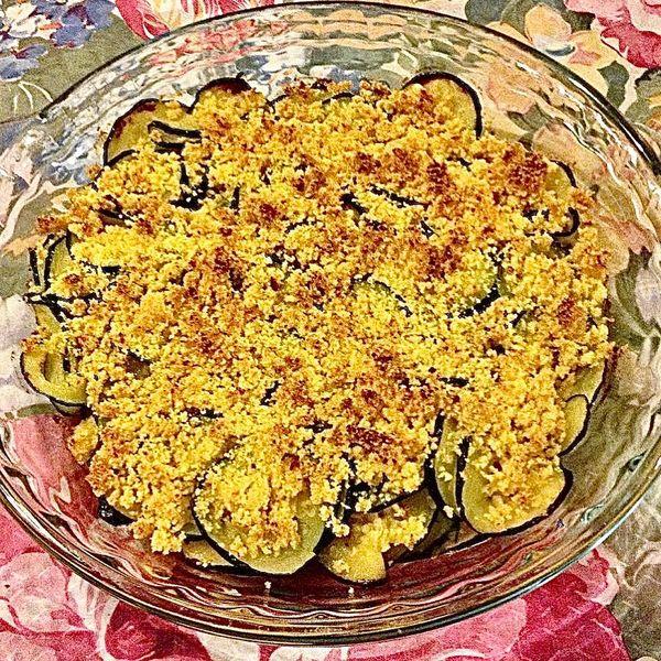 Foto della Ricetta dello Sfizioso Crumble di Zucchine